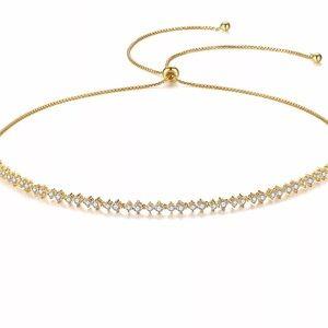 Julie Cubi Zirconia Gold Necklace